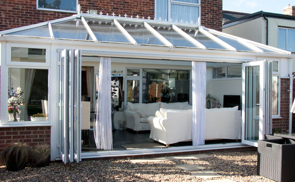 Bi-Folding Door Edwardian Conservatory